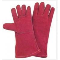Quality Light Weight Red fully lined Cow Split Leather Work Gloves With Kevlar Yarn Stitched wholesale