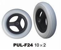 Quality 10 Inch mobility equipment wheel  Grey PU Foamed Non-Marking Wheel wholesale