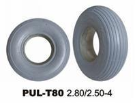 Quality PU Solid Wheelchair Tires  Foam Filled Gray Wheelchair Tire wholesale