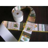 China cash printer rolls and label adhesive rolls , thermal ATM cash register paper roll on sale