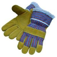 Quality Leather Working Gloves Pig Split BOA Lining Winter Gloves wholesale