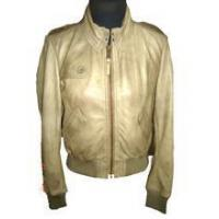 China Womens Hot Leather Bomber Jacket - Skin Color on sale