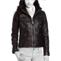 China Women Escada leather bomber jacket on sale