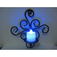 China Candles Candleholders Home Decor Wrought Iron Scrollwork Candle Sconcee Pair New on sale