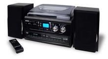 Cheap Jensen JTA-980 3-Speed Stereo Turntable 2 CD System with Cassette and AM/FM for sale