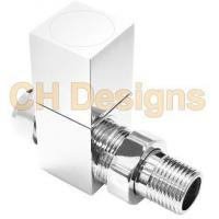 Quality Luxury Chrome Cube Radiator Valves Straight - Square Top wholesale