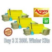 Quality Offers with Free Gifts 3x 350 Litre Grit Bin Winter Pack with Free Gift wholesale