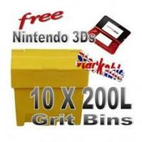 Quality Offers with Free Gifts 10x 200 Litre Grit Bins with Free Gift wholesale