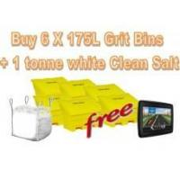 Quality Offers with Free Gifts 6x 175 Litre Grit Bins and 1 Tonne White Rock Salt with Free Gift wholesale