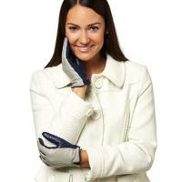 China Women's Touchscreen Italian Cashmere Lined Leather Gloves on sale