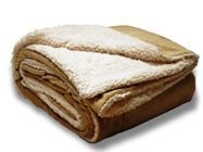 """Cheap EMBROIDERED Over-Sized Micro Mink Sherpa Blankets 60""""x 72"""" for sale"""