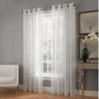 Quality Royale Grommet Top Floral Lace Curtain, by Lorraine Home Fashions wholesale