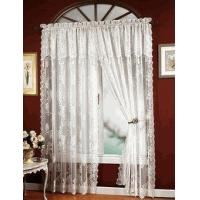 China Carly Lace Curtain Panel with Attached Valance on sale