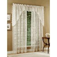 China Hopewell Lace Curtain Panel, Lace Balloon Shade, Valance, and Swag on sale