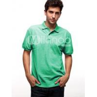 Quality Handsome Bright Green 60% Cotton 40% Polyester Mens Short Sleeve Polo Shirt wholesale