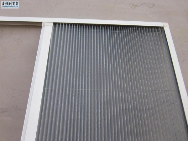 Cheap hy ribbed formwork fiberglass plisse window screen for Window screens for sale