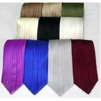 Quality Silk Pleated Tie - 8 Colors wholesale