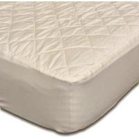 China Beds and Bedding Washable Organic Cotton Covered Natural Wool Filled Quilted Mattress Pad Protectors on sale