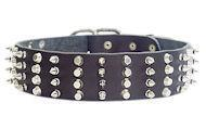 Quality Spiked Collars Durable Wide Decorated Leather Dog Collar for Walking wholesale