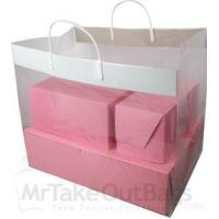 China Clear Cupcake Take Out Bags with Handle 16 x 10.25 x 12 (100 / case) on sale