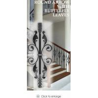 Quality Iron Balusters Round Arrow with Scroll & Leaves wholesale