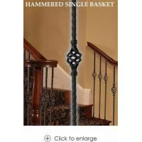 Quality Iron Balusters Mediterranean Hammered Single Basket, 9/16