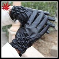 Quality Ladies silk lined sheepskin nappa leather gloves wholesale