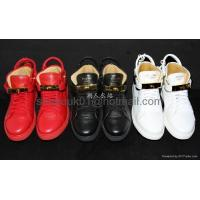 China Buscemi 100mm Leather High Top Sneaker Men padlock shoes Women Leather sneaker on sale