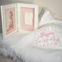 Quality Personalized Baby Gifts Baby Blanket & Keepsake Frame Personalized Baby Gift-Girl wholesale