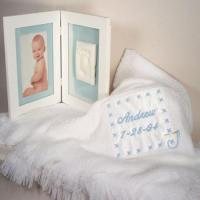 Quality Personalized Baby Gifts Baby Blanket & Keepsake Frame Personalized Baby Boy Gift wholesale