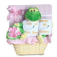 """Quality Unique Baby Gifts Forever Baby Book """"Cute as Can Bee"""" Baby Girl Gift Basket wholesale"""