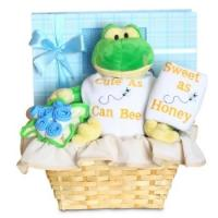 """Quality Personalized Baby Gifts Forever Baby Book """"Cute as Can Bee"""" Baby Boy Gift Basket wholesale"""