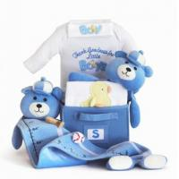 Quality Personalized Baby Gifts Thank Goodness for Little Boys Baby Gift Basket wholesale