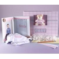 Quality Unique Baby Gifts Keepsake Photo Album & Picture Frame Baby Girl Gift Set wholesale