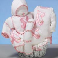 Baby Gift Baskets Ballet Slippers Baby Gift Basket