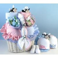 """Quality Baby Gift Baskets """"Bee...utiful"""" Baby Basket Gift for Twins wholesale"""