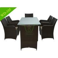 China Hotel Patio Pool Side Wicker Dining Set on sale