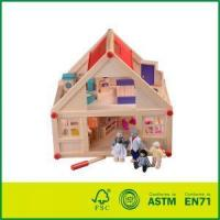 Quality wood doll house Eco-Friendly Painted Wood Decoration House Model With Cheap Doll House wholesale