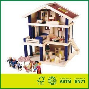 Cheap High Quality Wooden Uptown Dolls Cottage With Doll House for sale