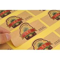 Buy cheap Multicolor Craft Paper Screen Printing Labels For Food Can / Box No Lamination from wholesalers