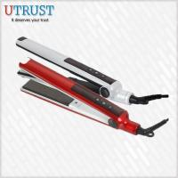 Quality Colorful LED professional thin Hair Straightener With Brush wholesale