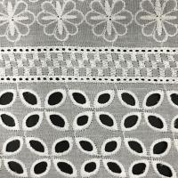 China Cotton Embroidered Lace Fabric for Garments on sale