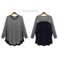 Quality 2014 spring new big size women knitted T-shirt wholesale