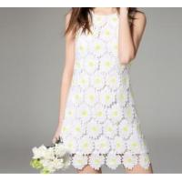 China Sunflower design, Water soluble embroidered lace skirts on sale