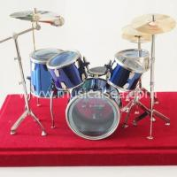 Quality Miniature Blue drum set ornament and mini musical instrument Musical Instrument wholesale