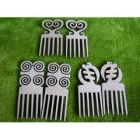 China Wooden earrings kit plain birch laser cut 3 mm for crafts afro pick Adinkra on sale