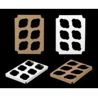 """Quality Cupcake Boxes 3373 - 10"""" x 7"""" 6 Count Standard Cupcake Insert, Reversible White/Brown wholesale"""