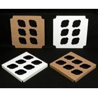 """Quality Cupcake Boxes 1761 - 10"""" x 10"""" 6 Count Standard Cupcake Insert, Reversible White/Brown wholesale"""