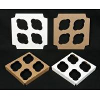 """Quality Cupcake Boxes 1762 - 7"""" x 7"""" 4 Count Standard Cupcake Insert, Reversible White/Brown wholesale"""