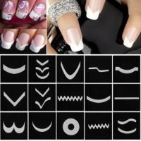 Buy cheap French Style Nail Manicure DIY Nail Art Tips Guides Stencil Strip Nail Art Stickers from wholesalers